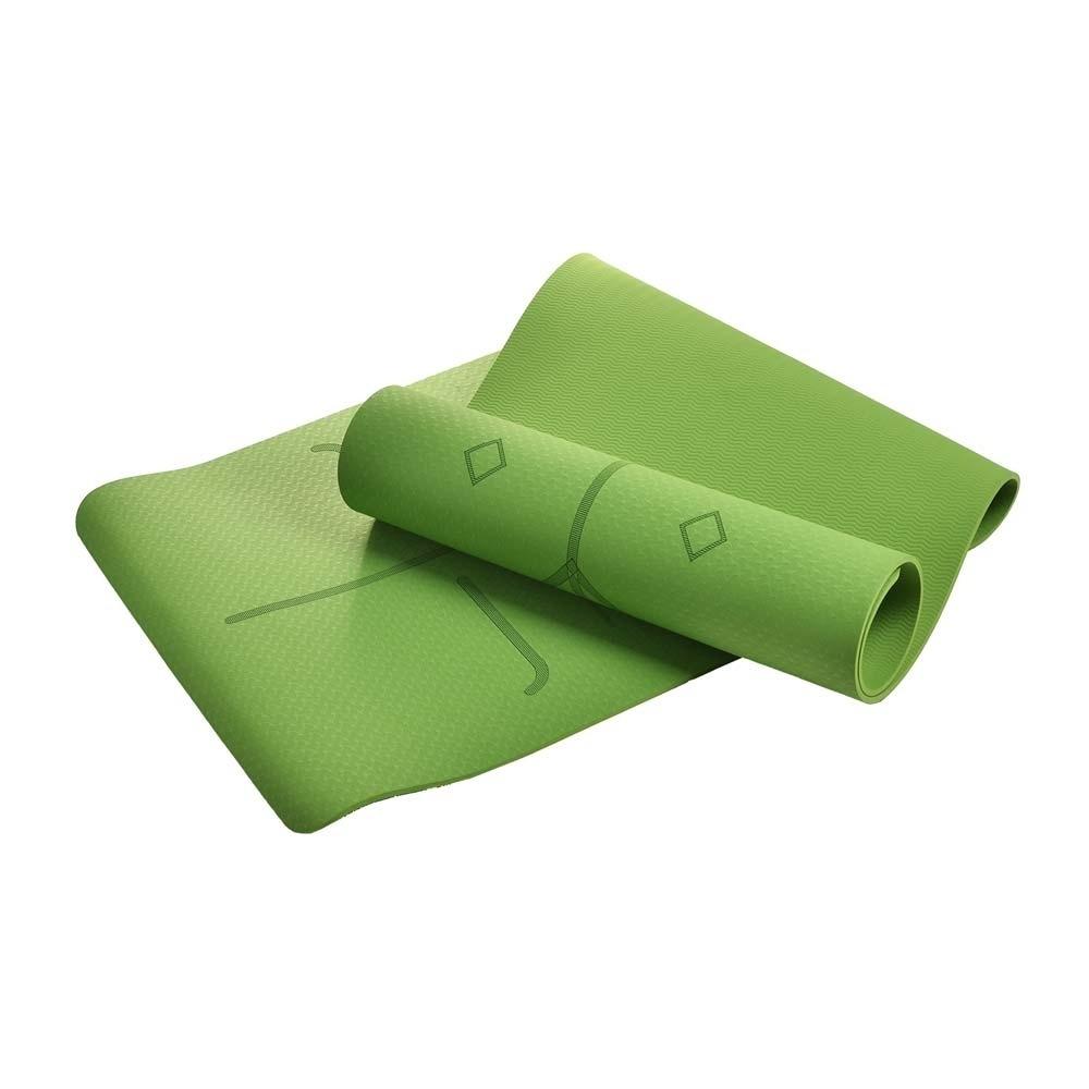 Leader X-環保TPE雙面防滑體位中導線瑜珈墊6mm